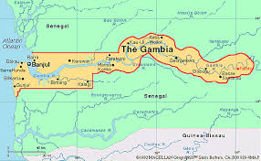africa map gambia map of gambia