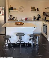 how to paint kitchen cabinets bunnings reveals how she created a stylish kitchen island for