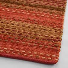striped pebble persimmon chindi area rug world market