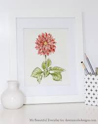 diy watercolor dahlia printable dawn nicole designs