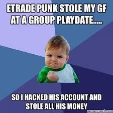 Etrade Baby Meme - baby hack