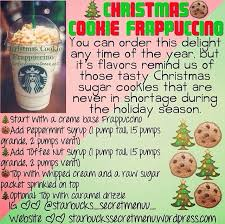 christmas cookie frappuccino starbucks secret menu