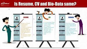 curriculum vitae cv vs resume bio vs resume resume for study