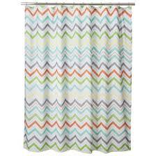 Green Chevron Shower Curtain Circo皰 Chevron Shower Curtain Orange Ideas For Bathroom