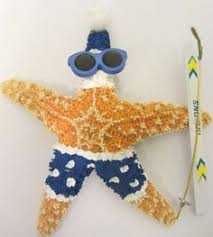 starfish ornament themed santa ornament deniz
