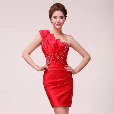 2015 new design cocktail dress blue party gowns red oblique short