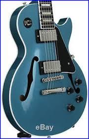 light blue gibson les paul gibson 2016 es les paul electric guitar in pelham blue with case