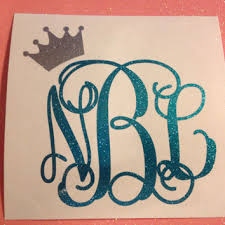 monogram car decal best glitter monogram car decals products on wanelo