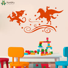 online shop fairy tales wall decal for kids rooms knight dragon
