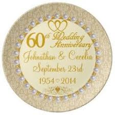 60th wedding anniversary plate 60th wedding anniversary plate gift idea personalized 60