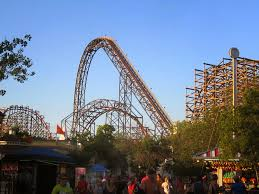 Six Flags In America Bobbie U0027s Roller Coaster And Theme Park Reviews Goliath Six