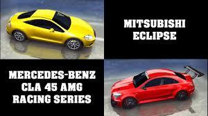 mitsubishi amg asphalt 8 full test mercedes cla 45 vs mitsubishi eclipse