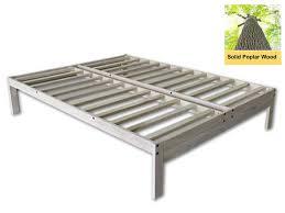 Nomad Bed Frame Solid Wood Platform Bed In King