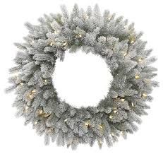 frosted pine wreath traditional wreaths and garlands