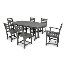 White Patio Dining Set - shop trex outdoor furniture monterey bay 7 piece stepping stone