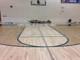 installing a wood floor sports floors inc basketball courts