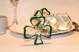 napkin ring green shamrocks st patricks day ornaments green