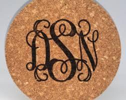 Monogrammed Home Decor Monogram Trivet Etsy