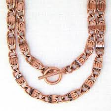 copper necklace images Copper celtic scroll chain necklace 24 inch nc66 solid copper 5mm jpeg