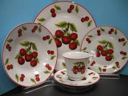 cherry decorations for home cherry decorations for home 20 pc red cherry dinner set plates