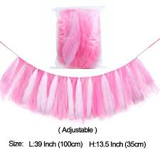 tutu baby shower decorations online shop ourwarm tutu tulle table skirts high chair decor baby