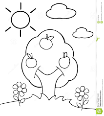 printable tree coloring pages for kids trees page of a trunk