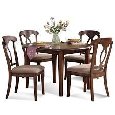 bassett mirror francesca round 22 inch drop leaf dining table
