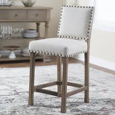 Counter Height Upholstered Chairs Belham Living Thomas Tufted Tweed Counter Stool Hayneedle