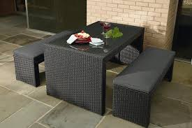 Outdoor Wicker Dining Set La Z Boy Derik 3pc Bench Dining Set Limited Availability