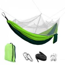 sokano foldable outdoor hammock hanging bed with mosquito net