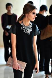 dress with necklace images Best 25 black statement necklaces ideas casual jpg