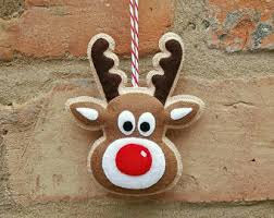 ornaments felt rudolph reindeer ornament by mymagicfelt