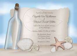 wedding invites beach wedding invitations beach message from a bottle