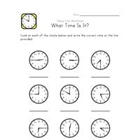 telling time worksheet 5 minute intervals all kids network