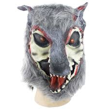 buy 1pc wolf mask latex animal prop for halloween horror fake mask
