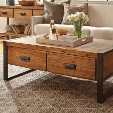 Rustic Wood And Metal Coffee Table The Coffee Tables Rustic Wood Finelymade Furniture Within Plan