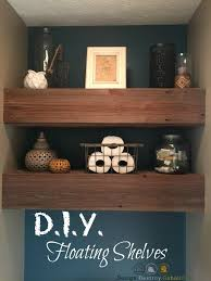 diy reclaimed wood floating shelves design destroy rebuild