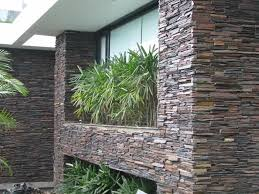 Exterior Wall Design Natural Stone Exterior Wall Cladding In The House Stylish And