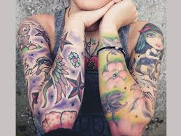 25 fascinating sleeve tattoos for girls