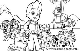 paw patrol team coloring pages printable
