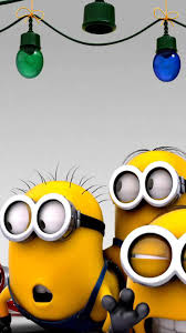 minions christmas party mobile wallpaper phone background