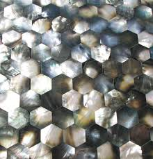 decor u0026 tips sea shell tile with mother of pearl tile and hexagon