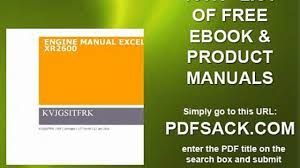 engine manual excell xr2600 video dailymotion