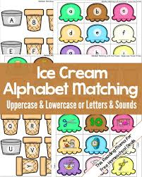 free alphabet matching activity instant download free