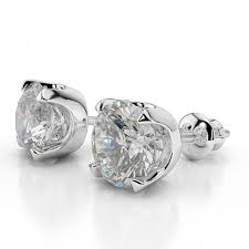 diamond earrings diamond stud earrings classic 2 3 carat 0 60ct cut