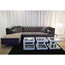 velvet sectional sofa overstock sectional sofas roselawnlutheran