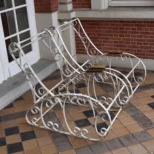 Repainting Wrought Iron Furniture by Wrought Iron Garden Chairs Paul De Grande Antique