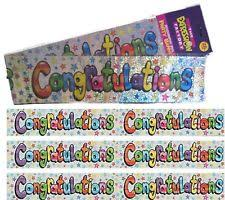 Congratulation Banner Congratulations Party Banners Buntings And Garlands Ebay