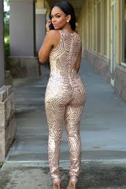 white and gold jumpsuit summer black gold geometric sleeveless sequin