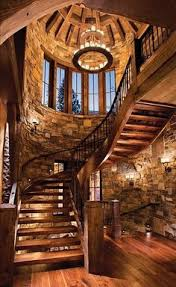 Silo House Stone Silo Houses Lovely Warm Wooden Staircase Beautiful Wood